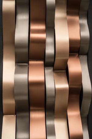 Luxury shiny <b>golden</b>, silver and rust-<b>colored</b> modern <b>wall</b> background