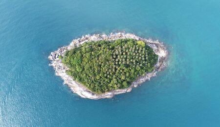 aerial animal: Aerial view of Koh Pu (Carb Island) near Kata beach in Phuket, Thailand