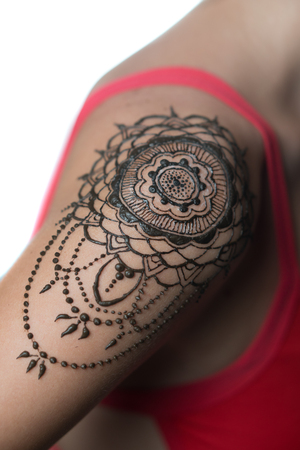Shoulder Tattoo Stock Photos And Images 123rf