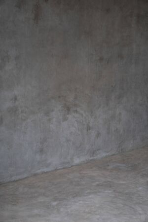 Concrete room wall background, gray wall and floor interior background Imagens