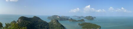Beautiful view on Ang Thong National Marine Park in Thailand during sunny summer day Banco de Imagens