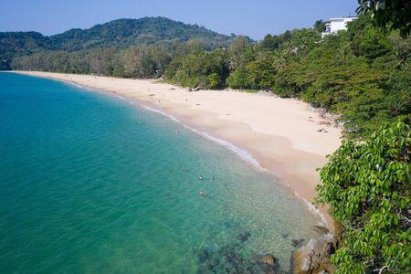 Aerial view of beautiful Naithon Beach in Phuket, Thailand Stock fotó
