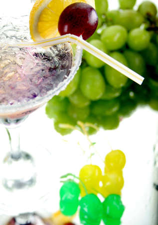 Drink and fruits Stock Photo - 2432452