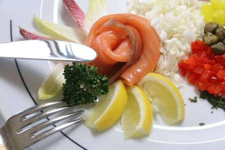 kipper: Fresh kipper with lemon