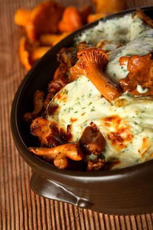 european cuisine: Casserole with mushrooms