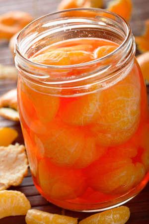european cuisine: Tangerines with liqueur