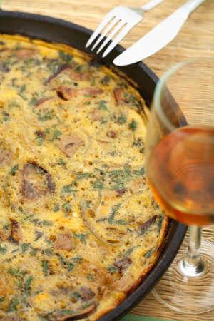 european cuisine: Tasty casserole with mushrooms