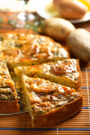 Casserole made from potatoes photo