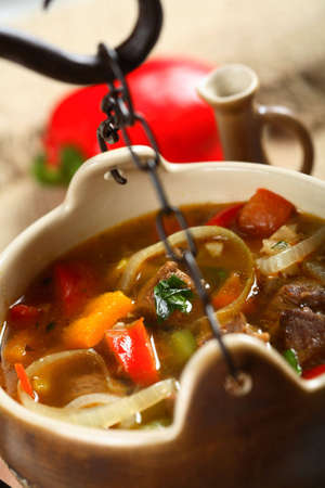 goulash: Goulash in the pot