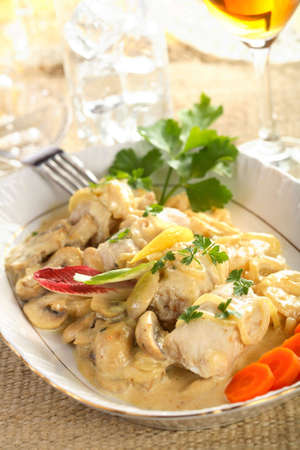 insulate: Sole with mushrooms dressing Stock Photo