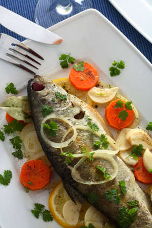 Trout on the vinegar photo