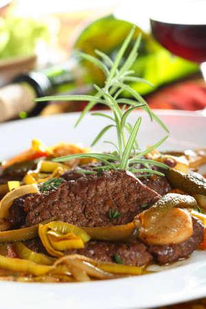 stewed: Stewed beef in the wine