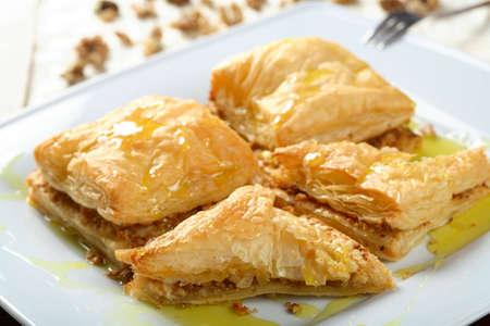 carne picada: Puff con picadillo de pasteler�a