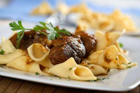 Pork roulade with pasta photo