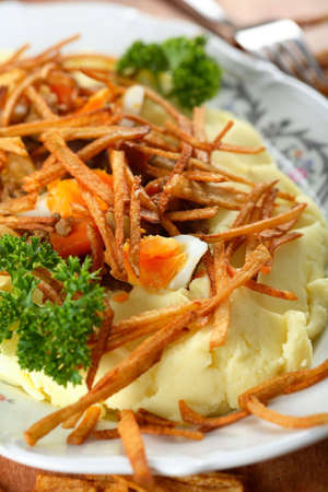 oven potatoes: Oven mutton with potatoes