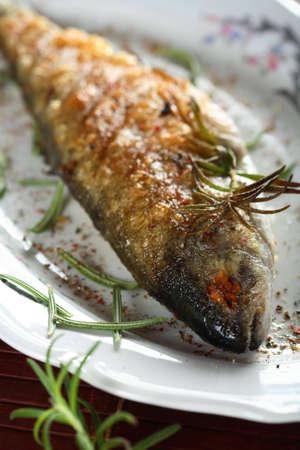 Trout with couscous photo