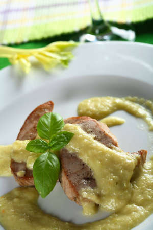 Tuna fish with celery dressing photo