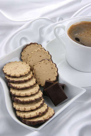 Cafe, cookies and chocolate Stock Photo - 3168986