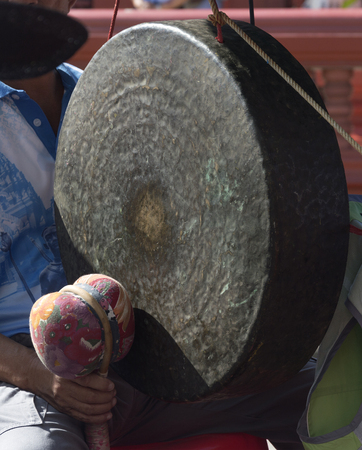 sonorous: Gong , one of Traditional Asian music instrument
