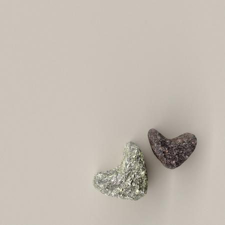 rock heart shape on sand , 3D rendering. Banque d'images - 117594636