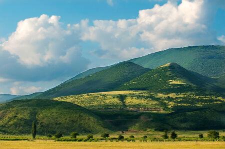 bulgaria: View to Stara planina in Bulgaria near town of Sliven.Landscape Stock Photo