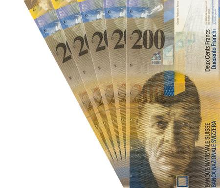swiss franc: two hundred Swiss Francs