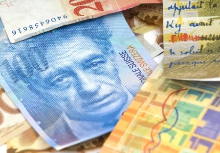 Swiss francs. Currency of Switzerland Standard-Bild