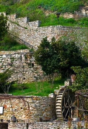 Old water wheel mill.Balchik. Bulgaria