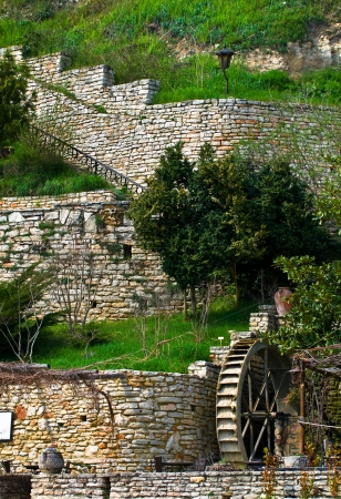 Old water wheel mill.Balchik. Bulgaria