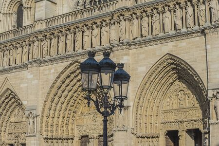 Notre Dame cathedral close up