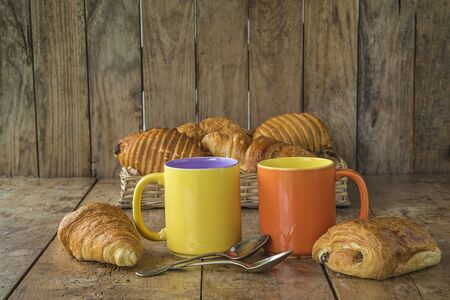 French breakfast with croissants Banque d'images