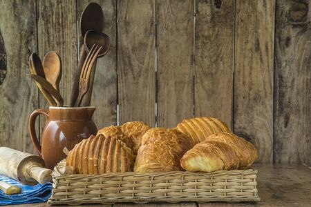 Traditional french croissants Banque d'images
