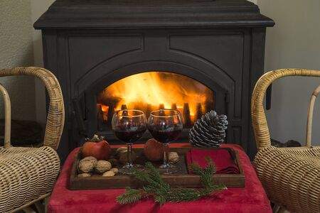 Cozy christmas evening Banque d'images