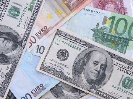 dollars and euros Stock fotó