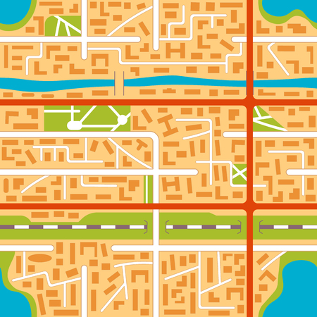 lake district: City map seamless pattern background. vector illustration in flat style.
