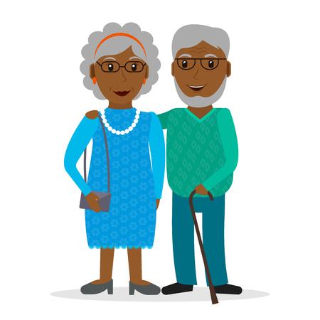 retirees: Black old couple of retirees.
