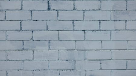 Background or texture of brick wall painted blue