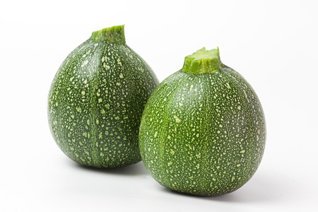 green, round courgette