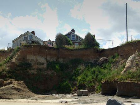 Coastal erosion on the east coast of England photo