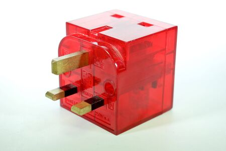 mains: 2way mains adaptor for use around the house or factory Stock Photo