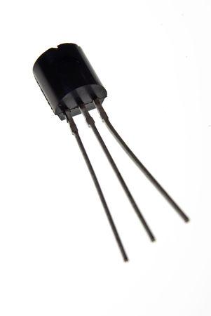 transistor: Transistor encerrada en pl�stico con 3 lleva  Foto de archivo
