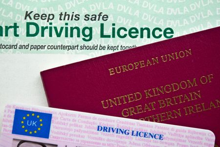 licence: UK Passport and Driving Licence