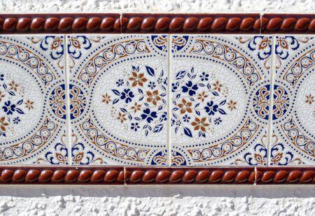 spainish: Elaborate mosiac wall tile on Spainish wall