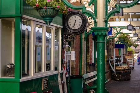 Platform at Sheringham station