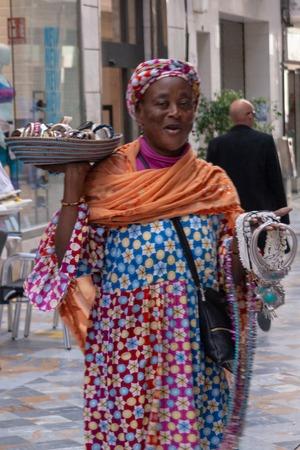 Gypsy seling in Cartagena streets Redakční