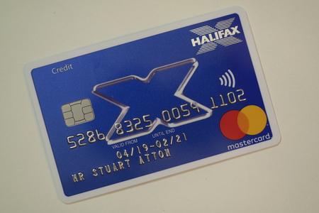 Halifax bank credit card Foto de archivo - 121304134