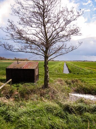 Drainage Ditch and Pump House