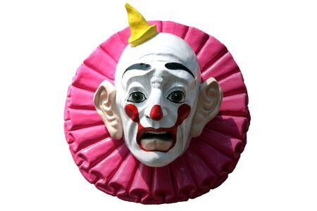 clowngesicht: Bunte Clown Gesicht isoliert vor einem wei�en Hintergrund