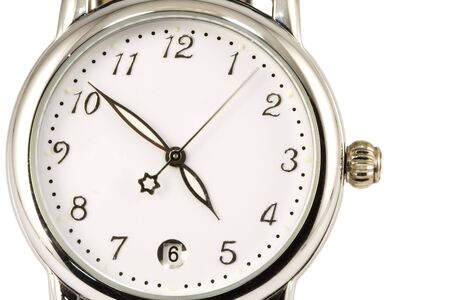 Watch close-up with moving second hand Stock Photo - 1214581