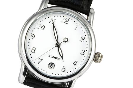 Watch close-up with moving second hand